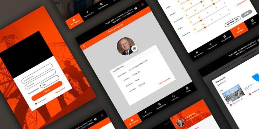 custom construction web application