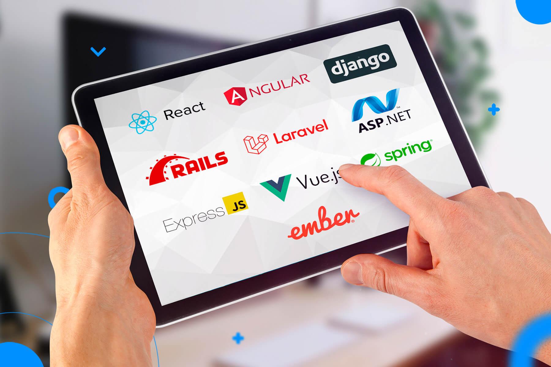 top frameworks web dev
