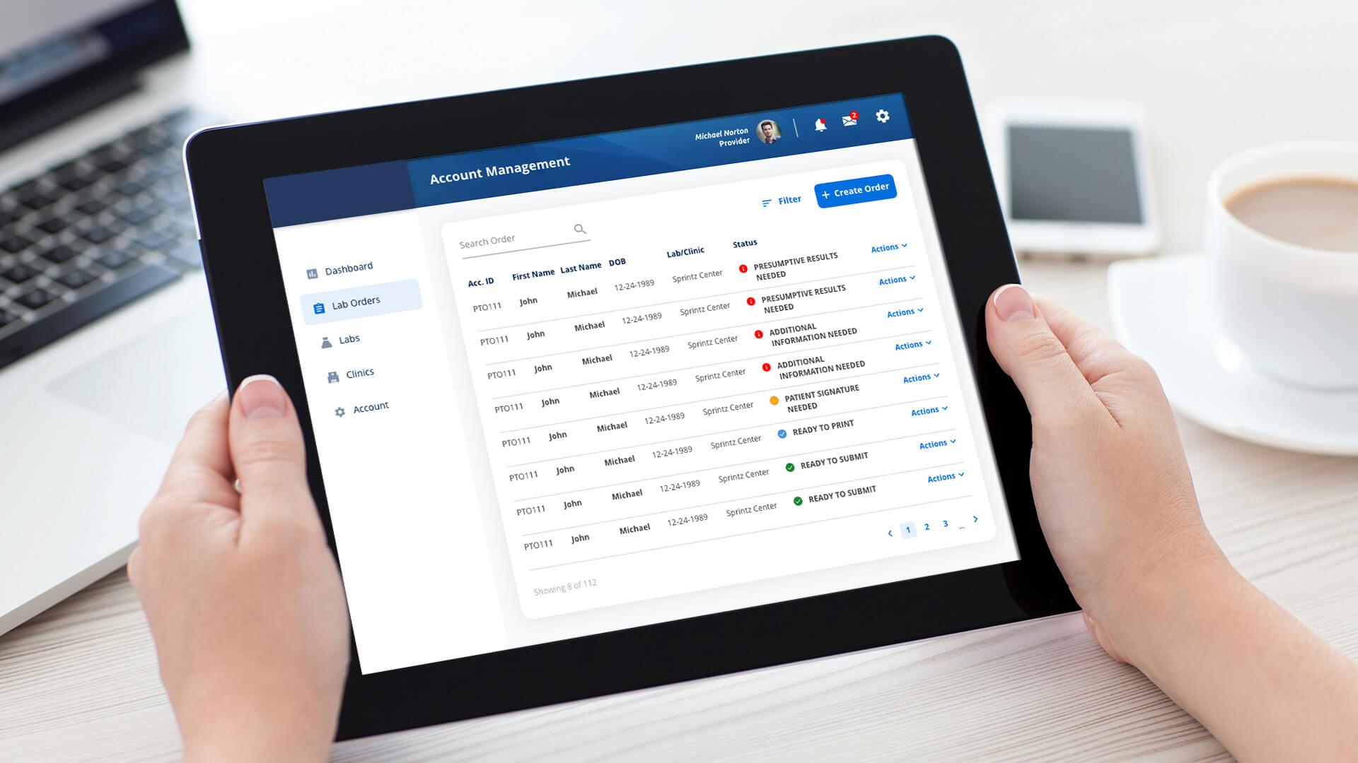responsive ux/ui design for healthcare software