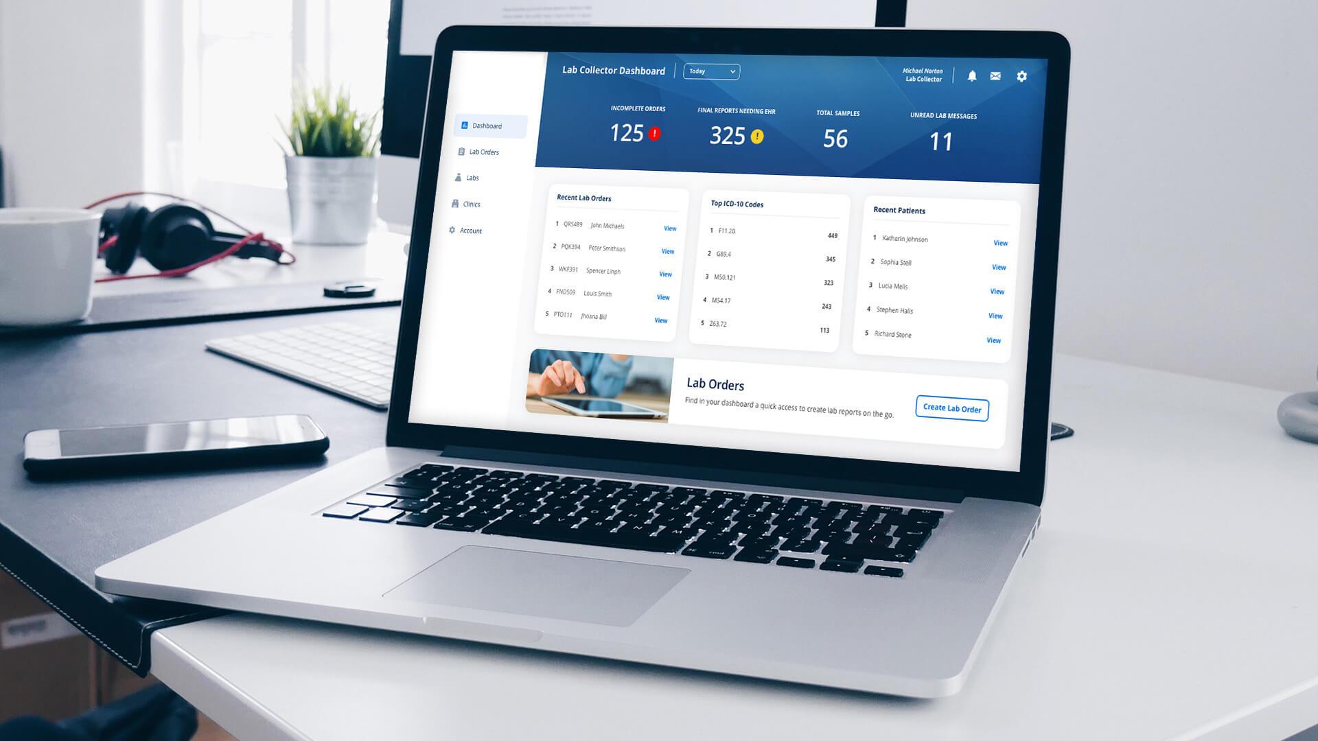 healthcare software ui/ux